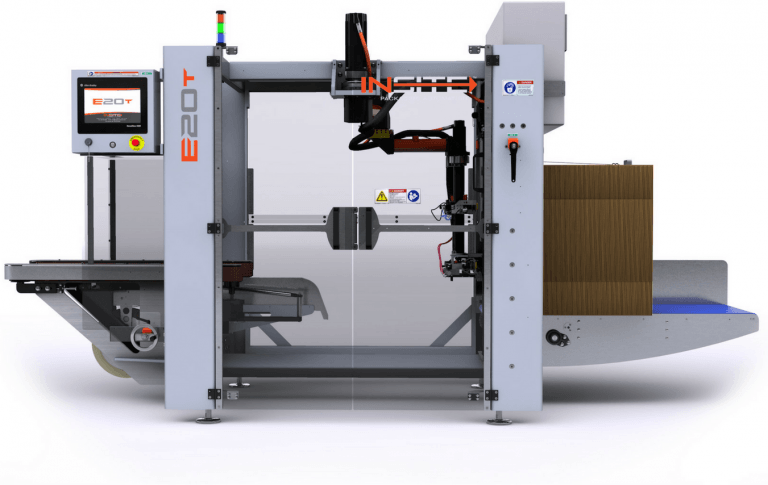 Case erector - E20T - clean-side view - INSITE Packaging Automation